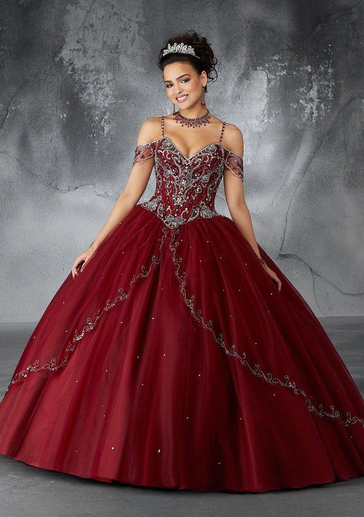 Beaded Off Shoulder Quinceanera Dress By Mori Lee Vizcaya