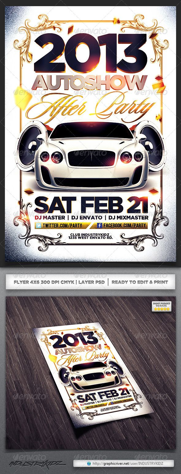 Auto show Flyer | Cars, Classy and Texts