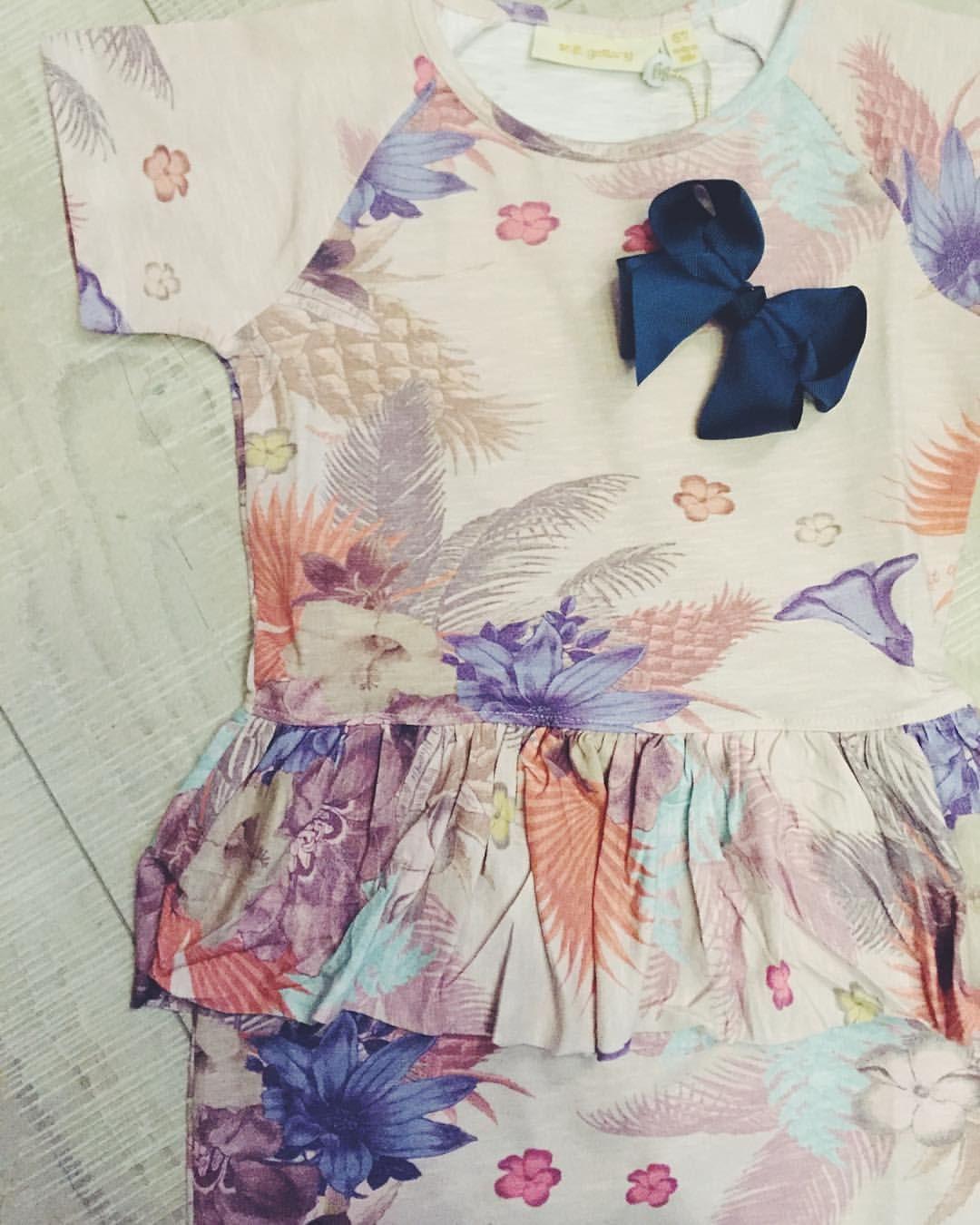 Super skønt print fra Soft Gallery  her en smuk smuk kjole med skirt til junior pigerne  ☺️ #softgallery#girls#print#ss16#smuk