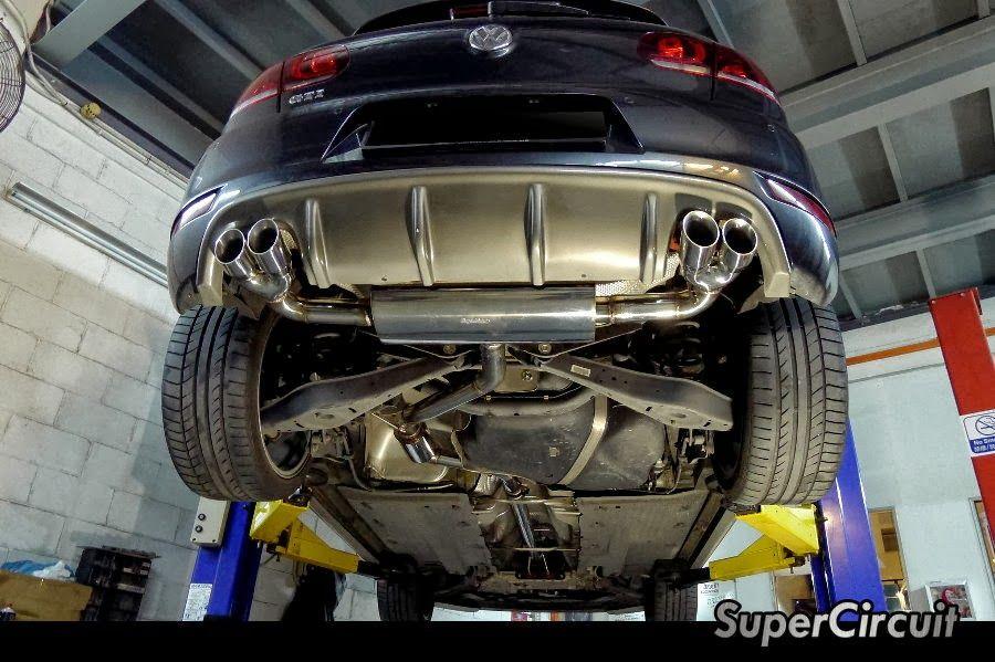 vw golf mk6 gti quad exhaust conversion