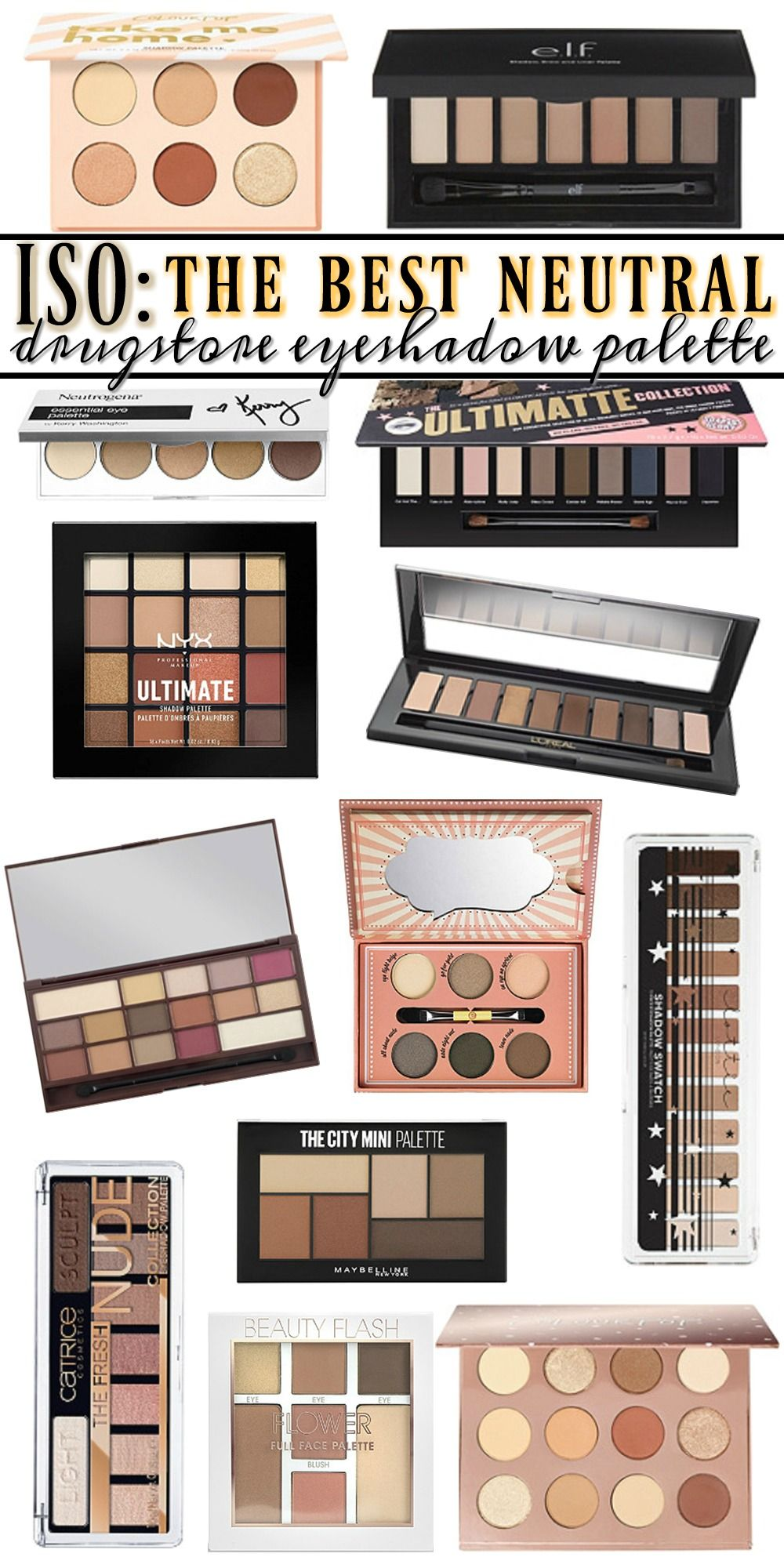 The BEST Drugstore Neutral Eyeshadow Palette Neutral