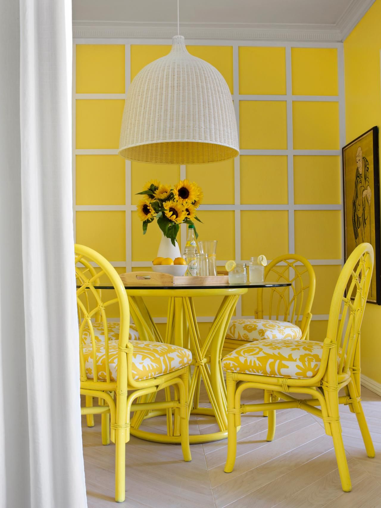 Summer Decorating Ideas - Preppy Interiors | Yellow dining room ...