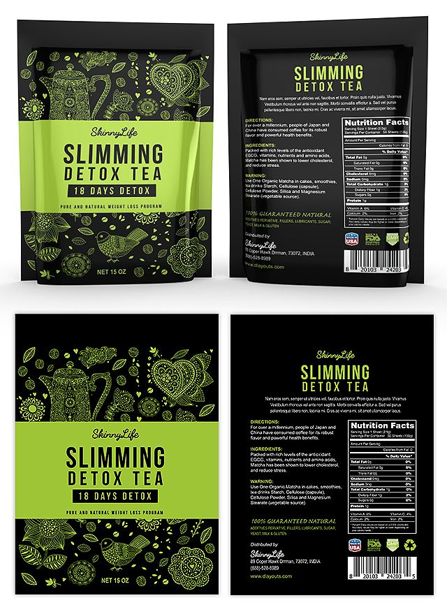 Slimming Detox Tea Label Template