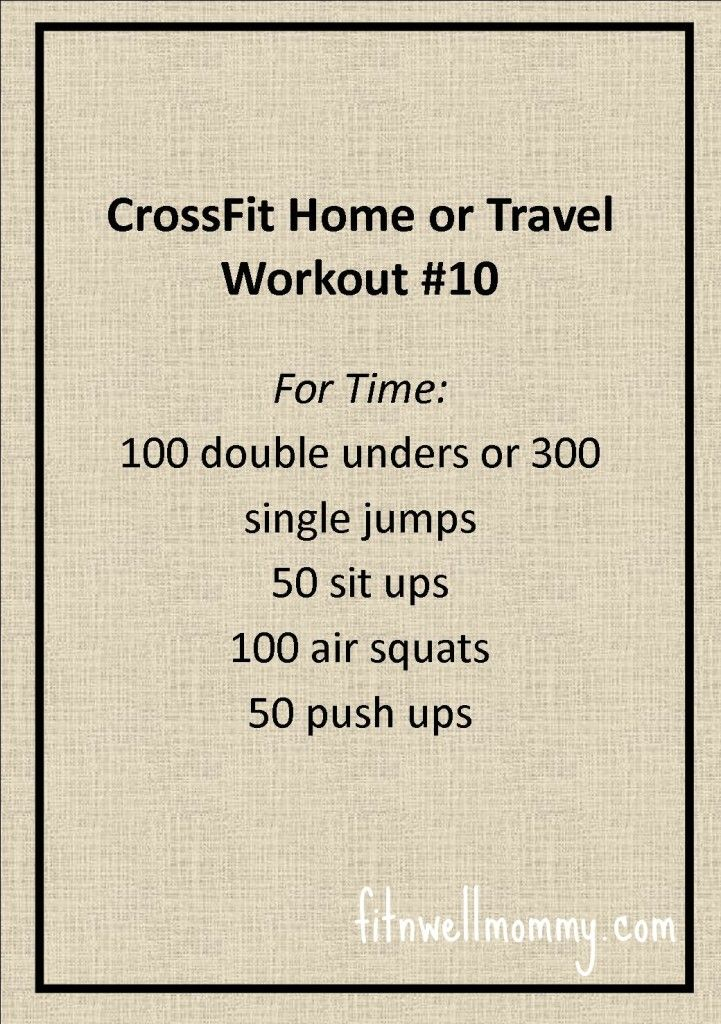 CrossFit Home or Travel WOD #10 CrossFit and Fitness Pinterest - health fitness specialist sample resume