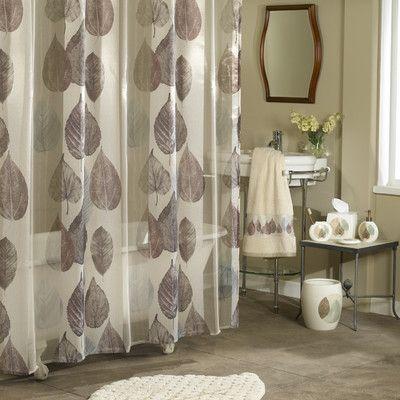 Ex Cell Kaiser Gossamer Leaf Shower Curtain Unique Shower