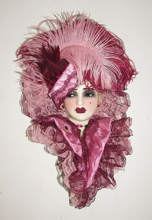 Wall Mask Decor Delectable Masks 38235 Unique Creations Limited Edition Lady Doll Bust Face 2018