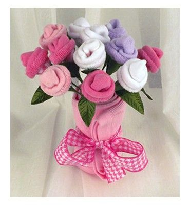 Baby sock flowers google search baby pinterest baby sock flowers google search negle Image collections