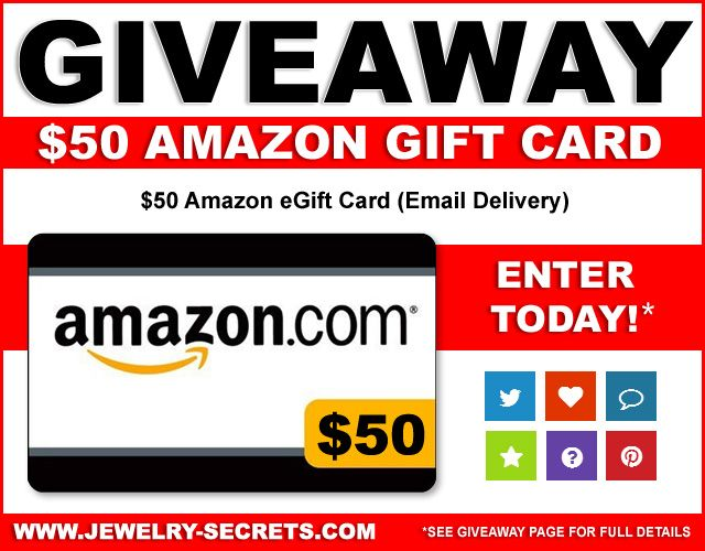 ► ►  Enter #Win #Jewelry #Giveaway #Contest $50 Gift Card! Good Luck! ⌚️   ► ► http://bit.ly/1Qut0ed