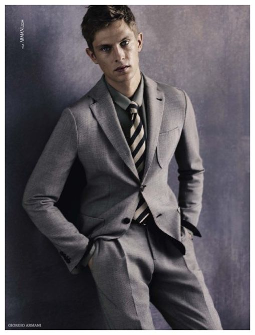 514c107d5c04 First Look  Mathias Lauridsen for Giorgio Armani Spring Summer 2015 Mens  Campaign