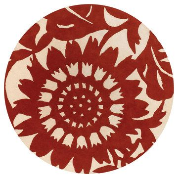 Zinnia 7'9 Round Persimmon by Chandra Rugs