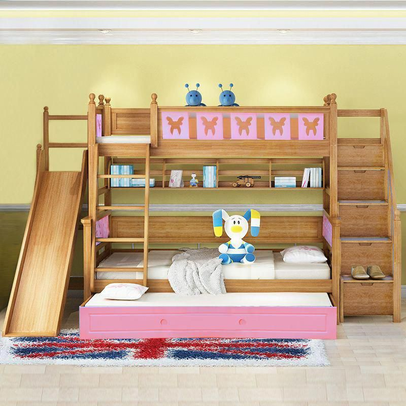 Ideas For Triple Bunk Beds With Slide Bedroom Bunkbeds
