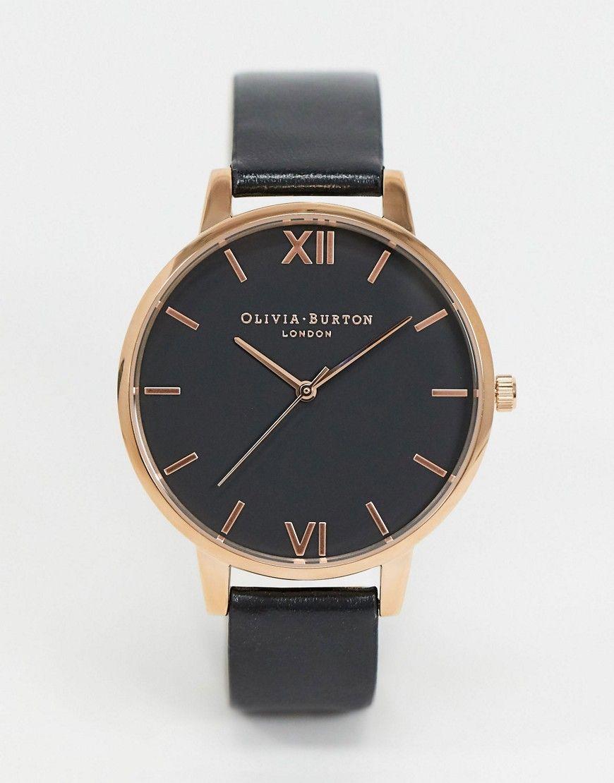 Olivia Burton Shoreditch Ob16sh08 Black And Rose Gold Watch In 2020 Rose Gold Watch Gold Watch Olivia Burton Watch