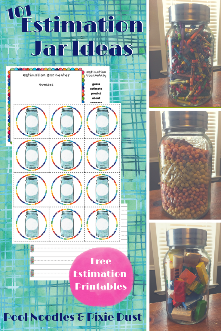 101 Estimation Jar Ideas Pool Noodles Pixie Dust Homeschool Printables Math Websites Fun Math