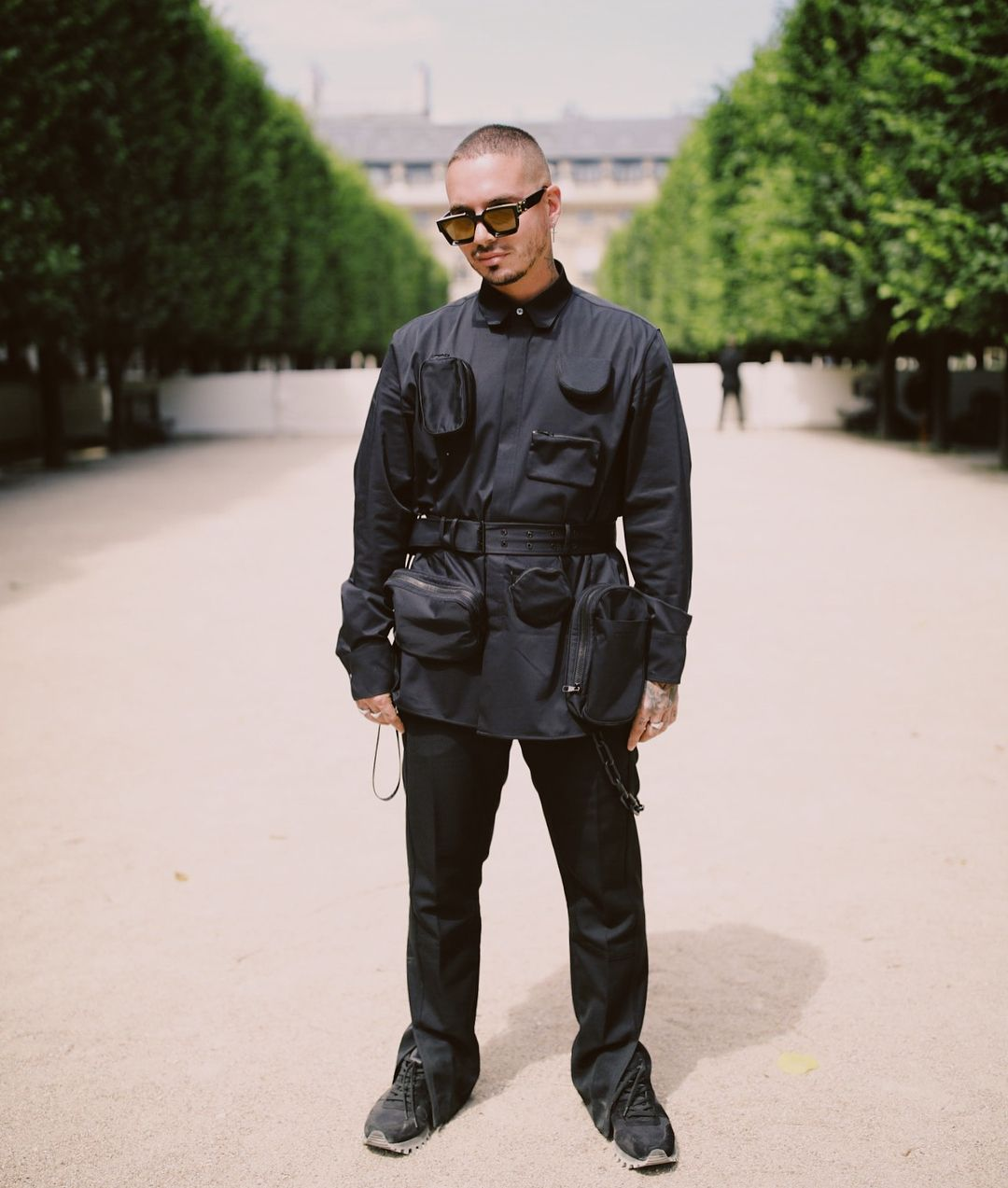 47871b9d4e78 J Balvin Wears Virgil Abloh s Louis Vuitton Men SS19 at the Paris Fashion  Week Show
