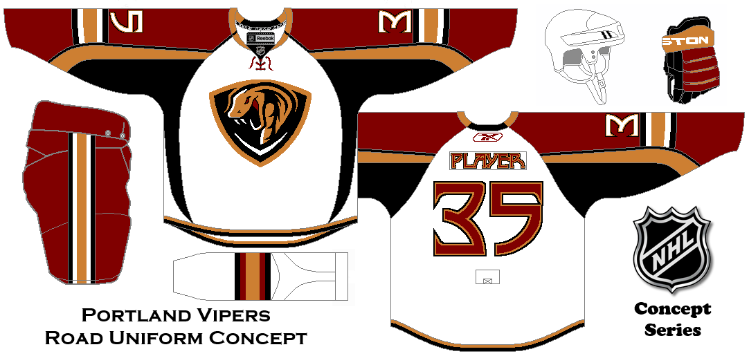 75500ee77 NHL Expansion Series Concept. Portland Vipers Road Uniform ...