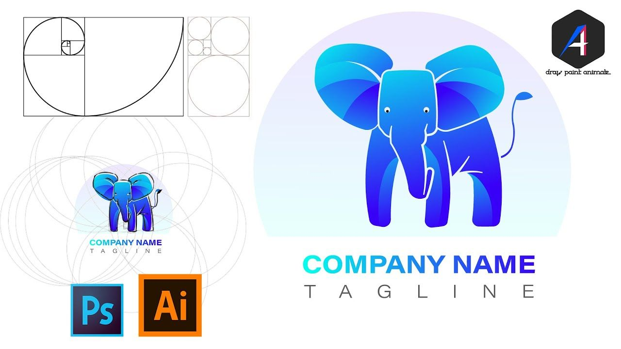 How to design a logo with Golden ration, explained very