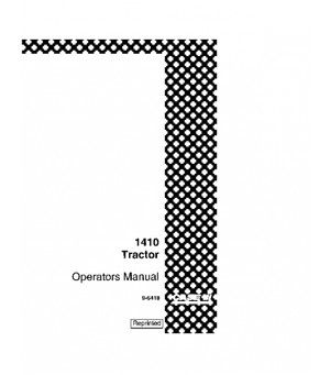 CASE IH 1410 1412 TRACTOR OPERATORS MANUAL DOWNLOAD