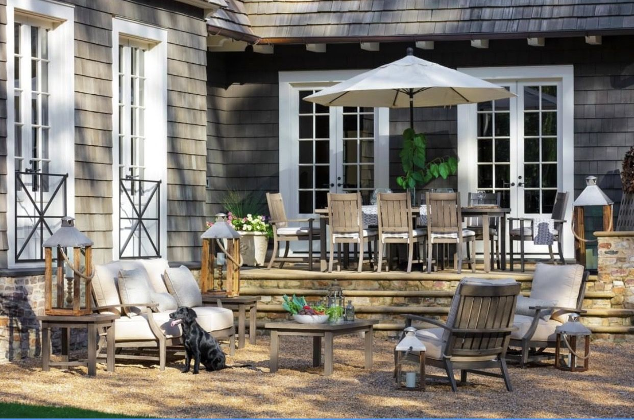 Pin By Karen Schmidt On Coastal Cottage Exteriors Patio Outdoor Furniture Outdoor Living