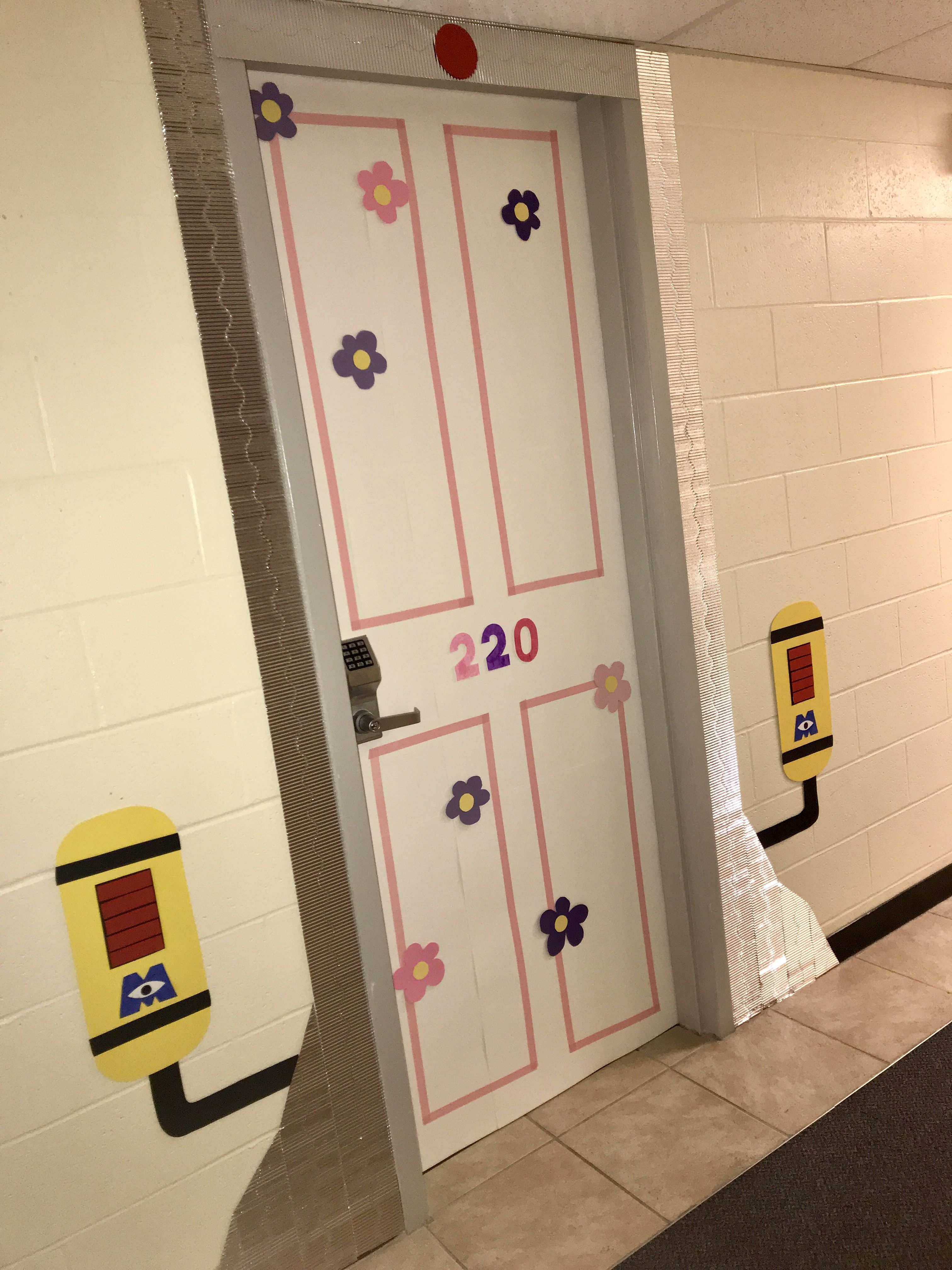Dorm Door Decorations Monster S Inc Halloween Halloweendoordecorations Dorm Door Decorations Room Door Decorations Dorm Door Dorm Door Decorations