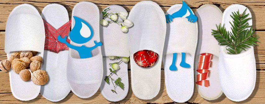 Spa Slippers aus den Hotels mitgehen lassen? Kein Problem! Wir erläutern Ihnen, wieso das eine gute Sache ist. Mehr dazu im Blog http://www.printissima.ch/3-gruende-warum-spa-slippers-mitnehmen/