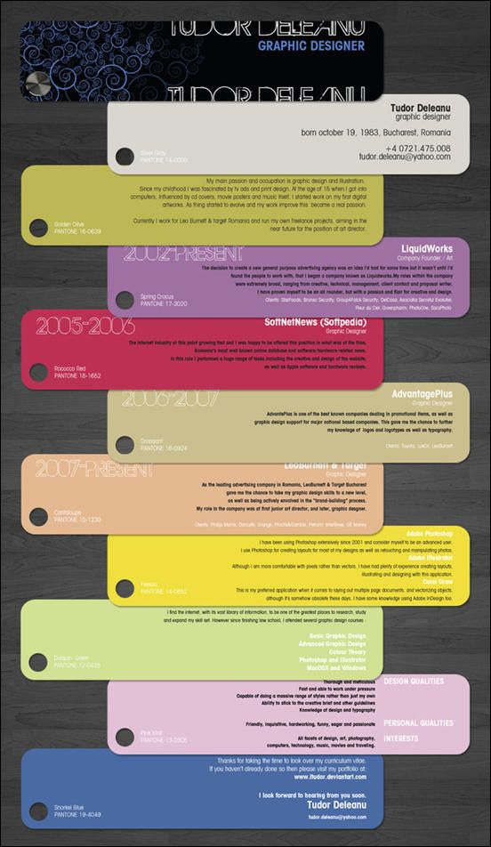 Creative Resumes by Tudor Deleanu Resume