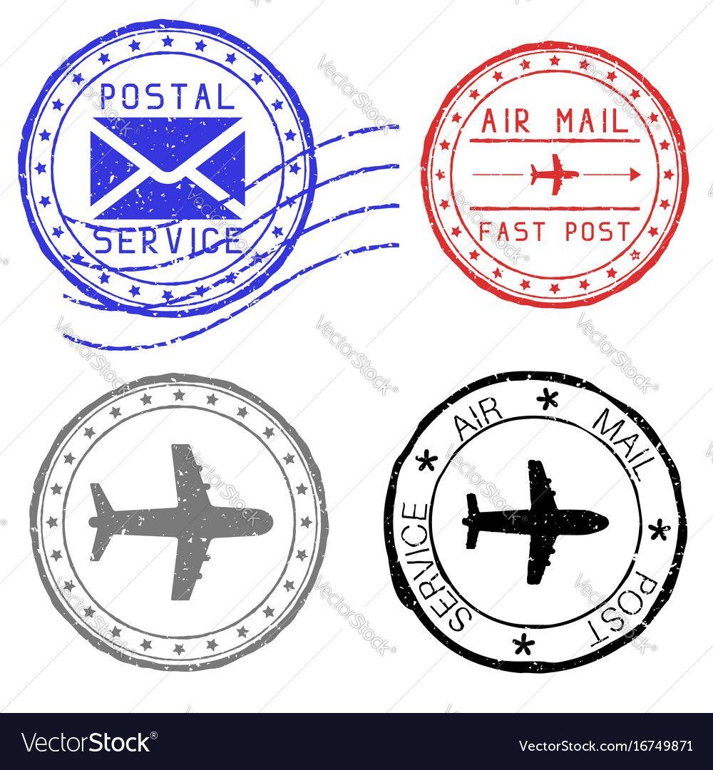 mail stamps for envelopes royalty free vector image postal