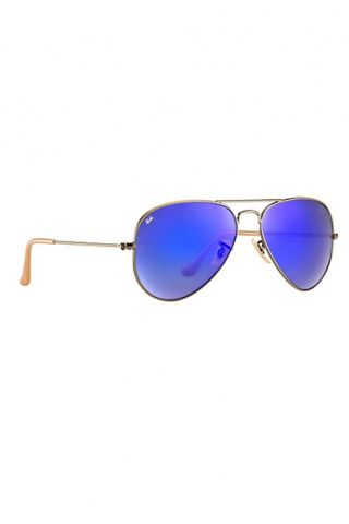 f78745b787 Ray-Ban RB3025 Aviator Flash Lenses 58 mm Sunglasses in Blue Violet  Mirror Bronze