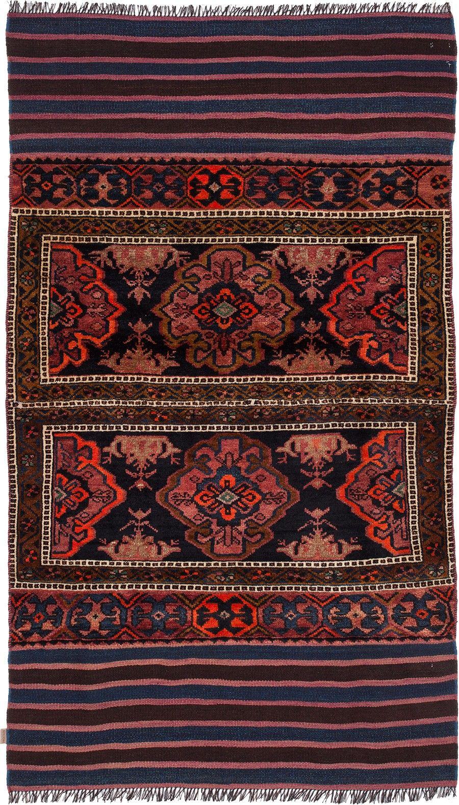 Handgewebter Kelim Teppich Im Traditionellen Geometrischen Muster In Weiß Orange Rot Blau Und Schwarz Für Dein Wohnz In 2020 Teppich Wandteppich Klassische Teppiche