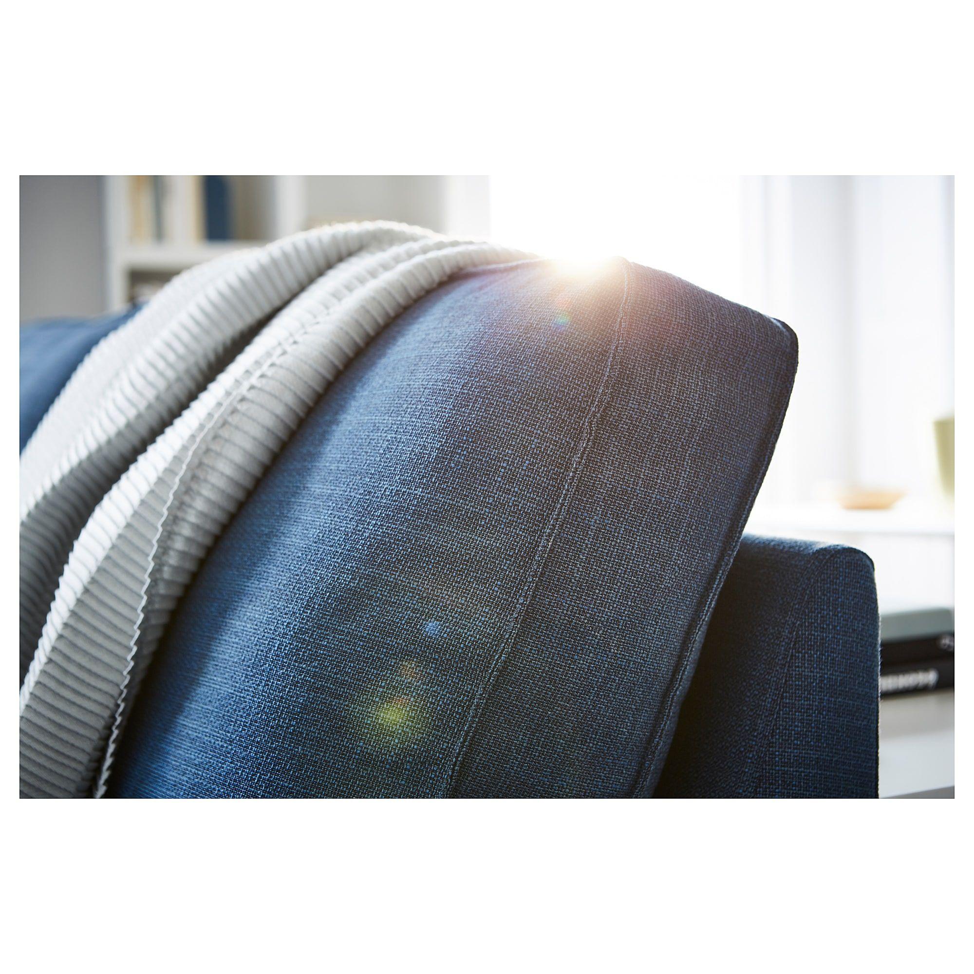 KIVIK Sofa - Hillared with chaise, Hillared dark blue ...
