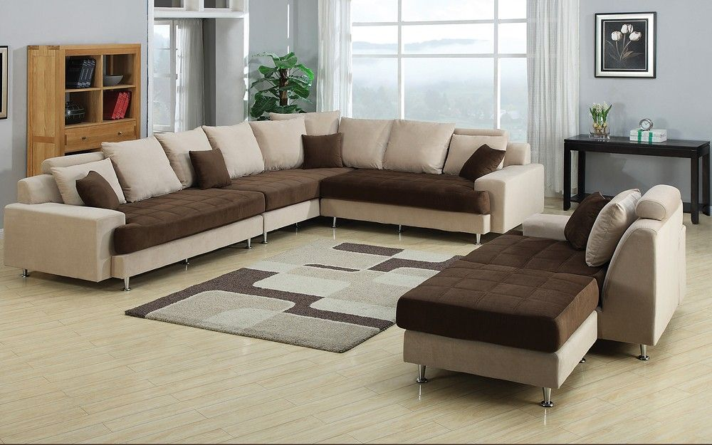 Joice Modern Two Tone Sectional Sofa Modern Sofa Sectional Contemporary Living Room Sets Cheap Living Room Sets