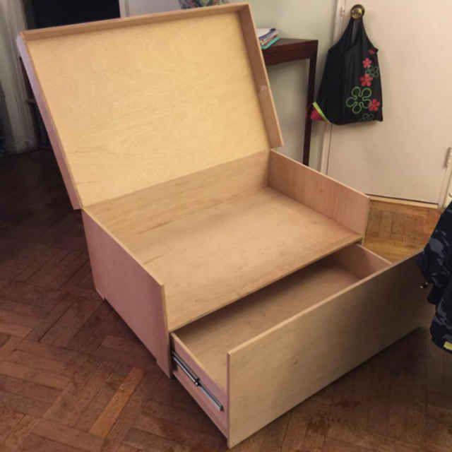 Wonderful Custom Built Gigantic Nike Shoe Box For Sneaker Storage