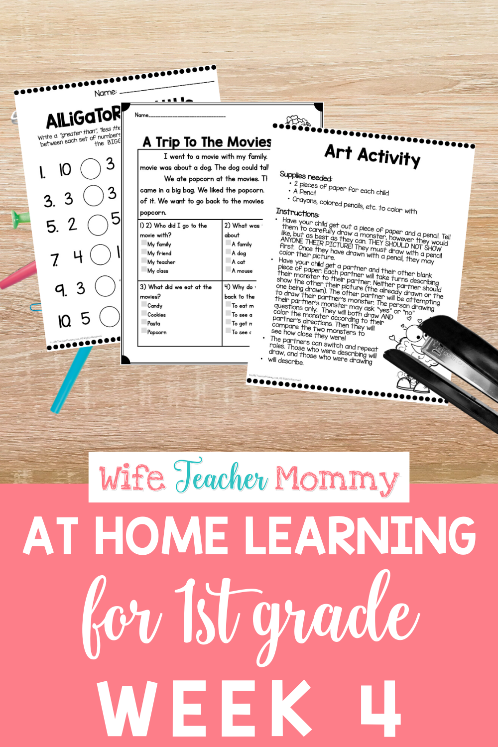 1st Grade Distance Learning Packet At Home Learning Activities Week 4 Distance Learning Teacher Time Savers Homeschool Lesson [ 1500 x 1000 Pixel ]