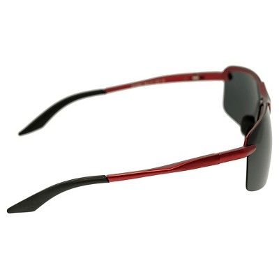 cb7cff6fe1 Breed Men s Lynx Polarized Sunglasses with Aluminum Frame and Arms -  Red Black