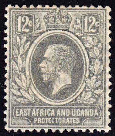 East Africa and Uganda King George V 12c 1920s