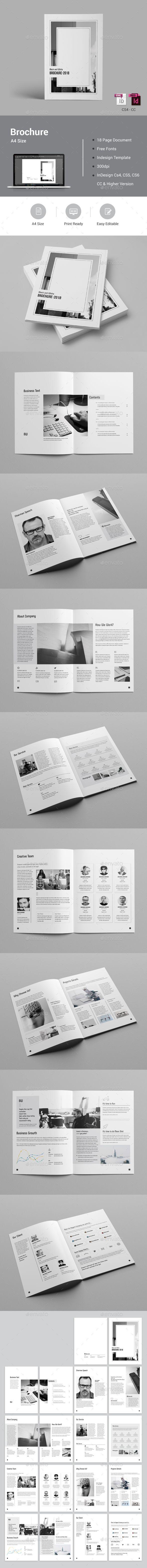 Black & White Brochure | Diseños creativos, Catálogo y Creativo