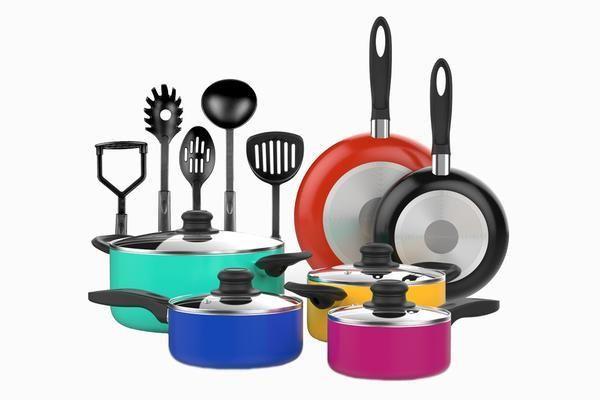 Cookware Set Details Care 15 Piece Nonstick Cookware Set