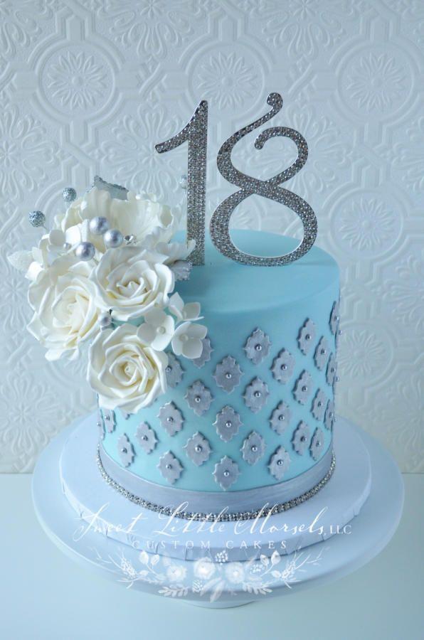 18th Birthday Cake Cake By Stephanie Yummy Sweet Pinterest