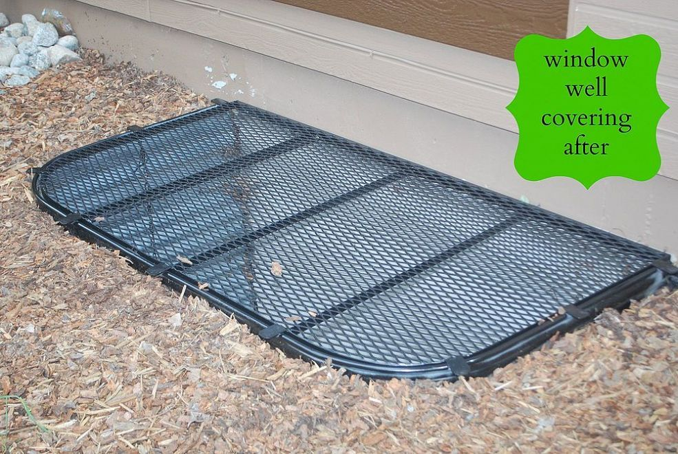 Window Well Grate Makeover