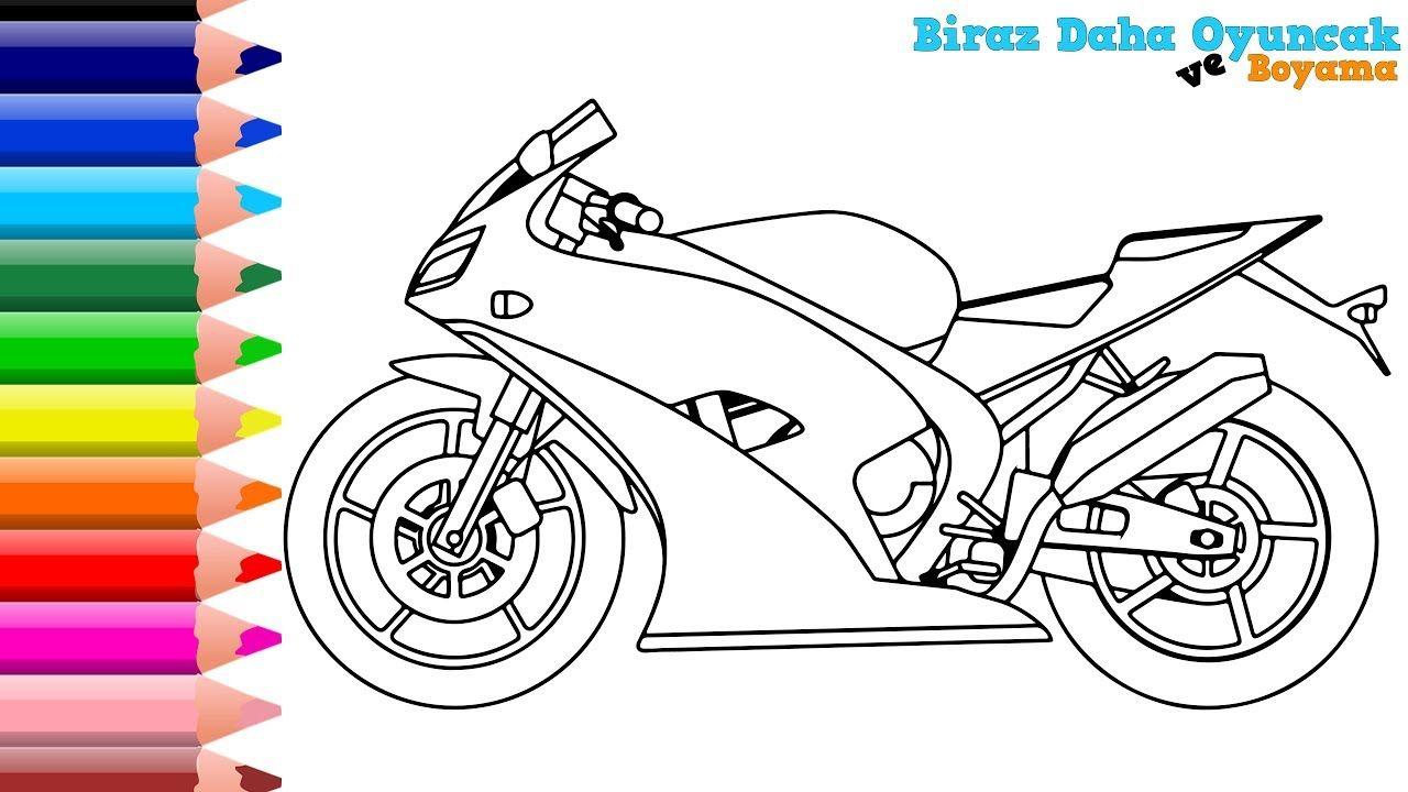 Motosiklet Boyama En Guzel Boyama Videolari Boyarken Renkleri Ogreniyoruz Boyama Kitaplari Renkler Ogrenme