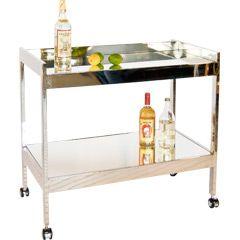 roland nickel bar cart 37W x 22Dx 28H