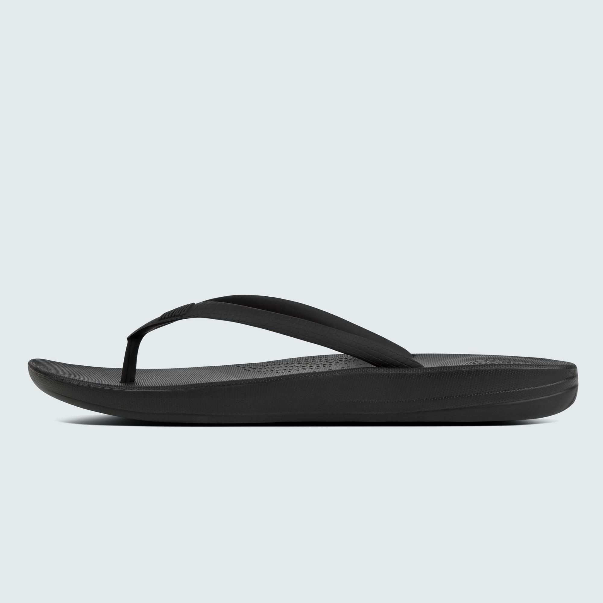 4064e03d0 Fitflop  32. Women s Iqushion Rubber Flip-Flops Black