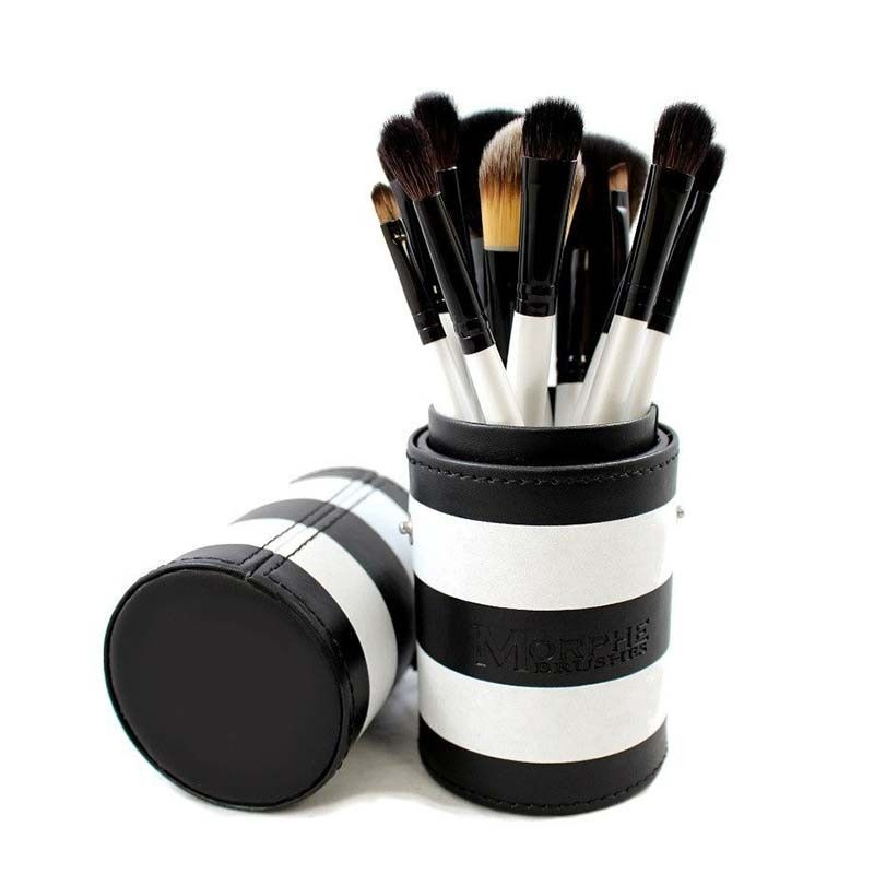 Morphe Brushes 12 Piece Black And White Travel Set 706