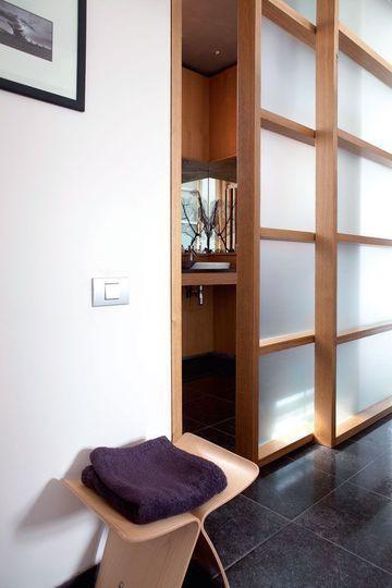 Salle de bains du0027appartement  20 photos pour su0027inspirer - fabriquer porte coulissante japonaise
