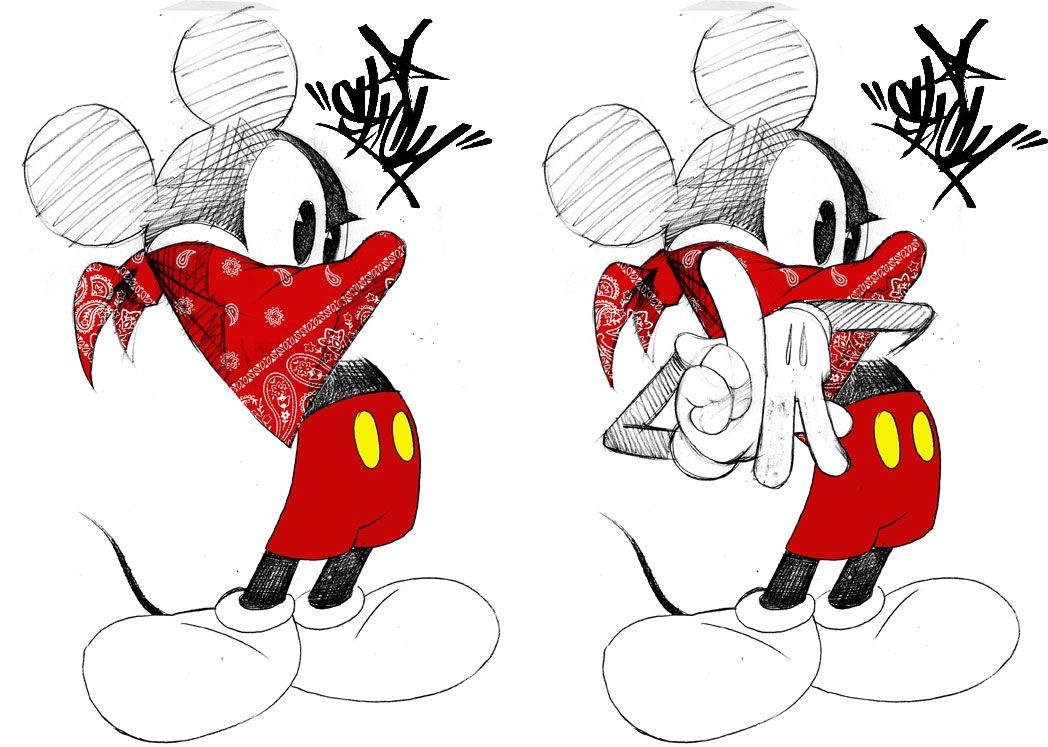 Gangsta mickey minnie mouse mickey mouse collective - Blood gang cartoon ...