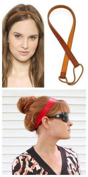 Photo of DIY leather headband … # leather # headband
