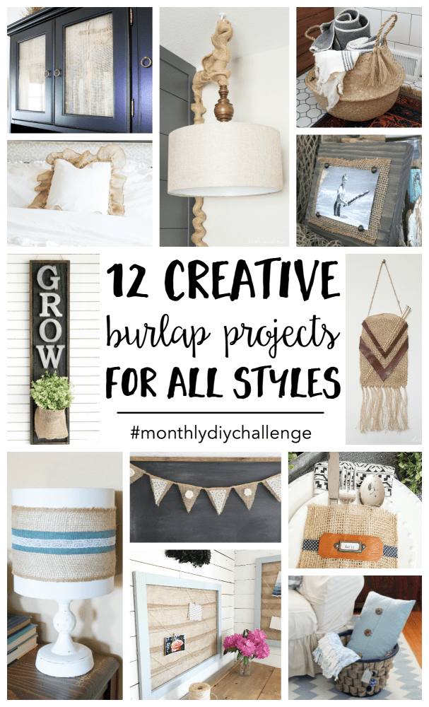 Burlap craft projects 12 creative ideas for all styles do it burlap craft projects are easy to make and can be customized to fit any style or home decor rustic farmhouse style modern boho style classic country solutioingenieria Gallery