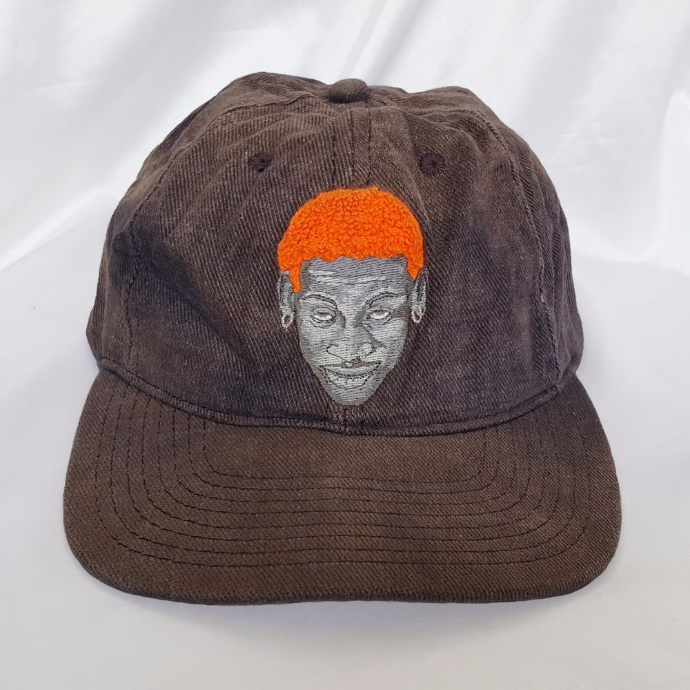 13babc17b Details about VTG Nike Flex Back Orange Strapback 90s Hat Cap in ...