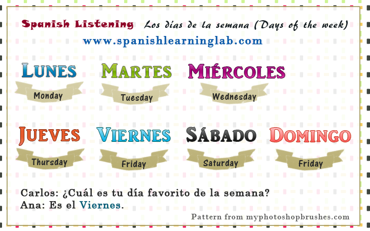 Talking About Days Of The Week In Spanish Learning Spanish For