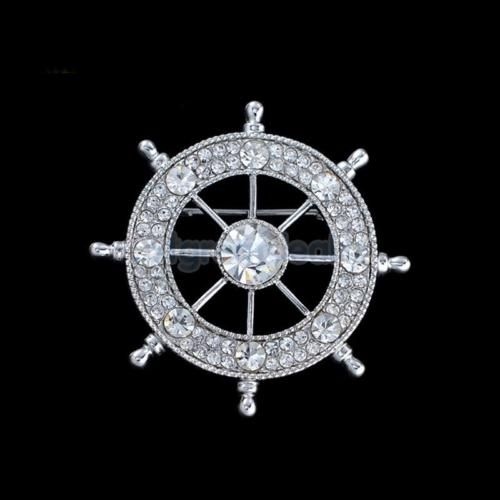 Trendy men crystal #rudder #brooch pin suit tuxedo wedding formal party #dress,  View more on the LINK: http://www.zeppy.io/product/gb/2/301768736035/