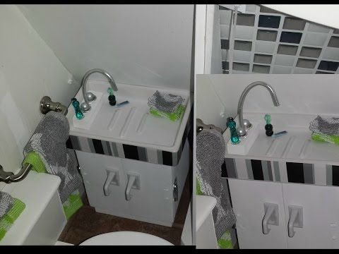 how to miniature bathroom sink (this is 1/6th scale, so